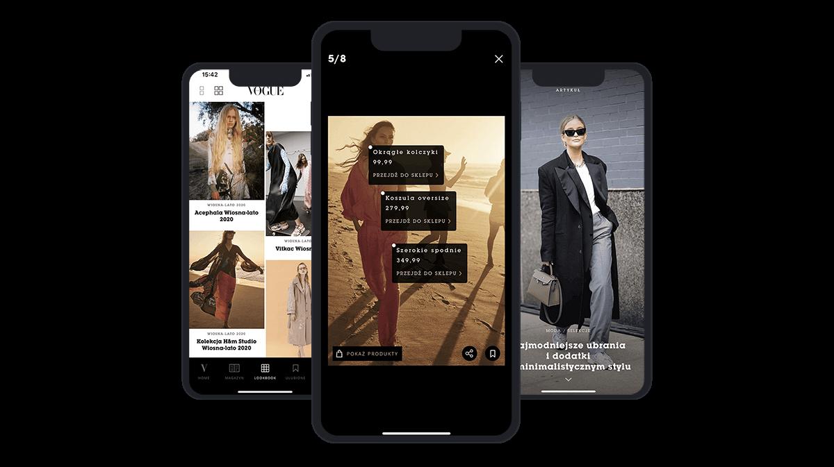 Aplikacja Vogue